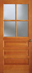 Exterior house doors for 6 horizontal panel doors