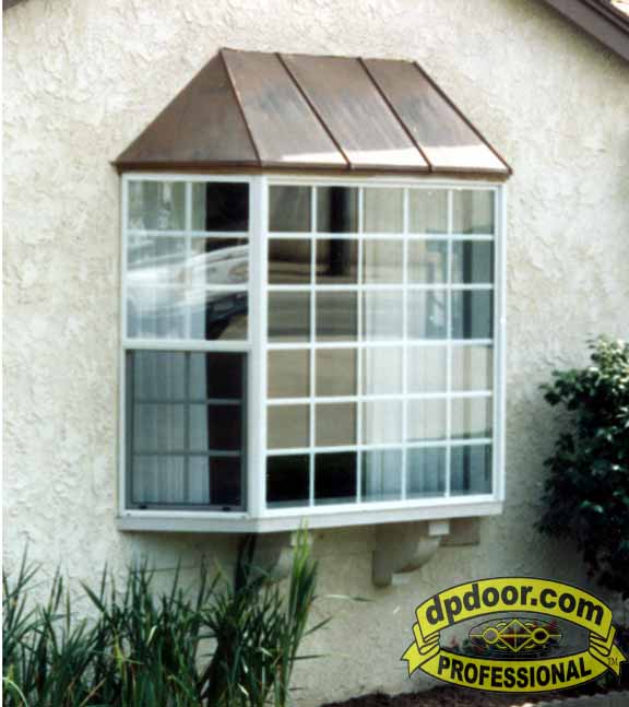 milgard bay window with copper roof