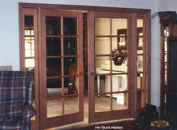 interior french door 8' with sidelites between rooms