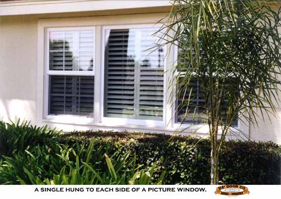 Dp Doors Vinyl Milgard Window Installed Single Hung And Picture