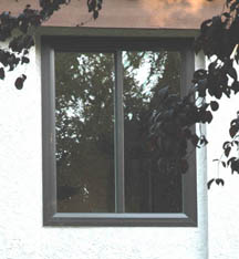 Picture link. Click this to go to an index of window pictures and information. The picture her is a brown windows installed. Most companies just sell white, some sell tan, we have several colors.